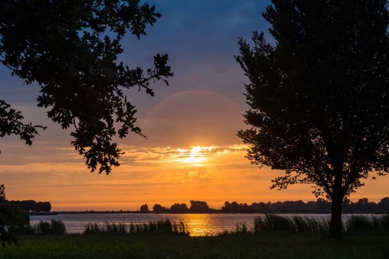 Ondergaande zon Noorderplassen