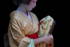 Geisha in Kyoto, ontmoeting op straat
